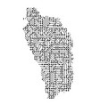 abstract schematic map of dominica from the black vector image vector image