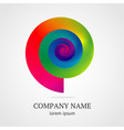 abstract spiral symbol with vibrant color gradient vector image
