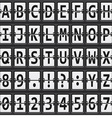 alphabet of black and white mechanical panel vector image vector image