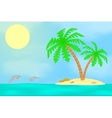 An island with a palm tree vector image
