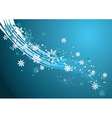 Background with Snowflakes2 vector image vector image