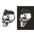 barber skull half profile vector image