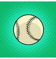 Baseball Ball pop art retro style vector image vector image