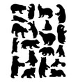 bear animal silhouettes vector image vector image