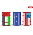 Benchmark oil BRENT WTI Dubai Crude vector image