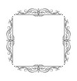 black square frame with floral patterns vector image vector image