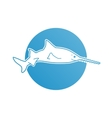 Blue flat logo sawfish for company and business vector image vector image