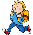 boy grade student cartoon vector image vector image