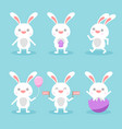 bunny cute characters set vector image vector image