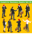 Business Poses 01 People Isometric vector image vector image