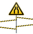 carefully narrow the passage safety precautions vector image vector image
