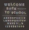 chalk font design on chalkboard background vector image