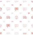 chat icons pattern seamless white background vector image vector image