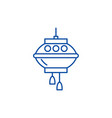 chinese lamps line icon concept chinese lamps vector image vector image