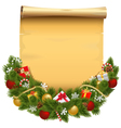 Christmas Decoration with Scroll vector image vector image