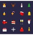 Christmas icons set flat vector image