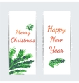 Christmas tree brunches banners vector image vector image
