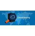 cloud hosting virtualization server web- services vector image vector image