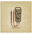 digital multimeter symbol old background vector image vector image