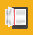 e-book concept in flat design vector image