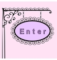 enter text on vintage street sign vector image