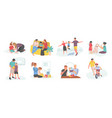 family teaching kid mother and father with child vector image vector image