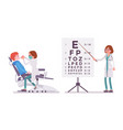 female dentist and ophthalmologist vector image