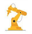 flat robot arm welding at factory line modern vector image
