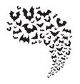 flying bats flock creepy halloween bat fly from vector image
