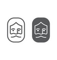 god line and glyph icon christianity and lord vector image