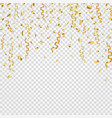 gold confetti background party background vector image
