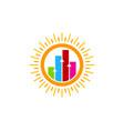 graph sun logo icon design vector image