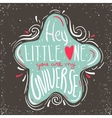 Hand drawn inspiring quote in cute star vector image