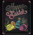 happy easter vintage card vector image vector image