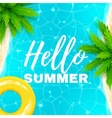 hello summer banner vector image