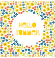hello summer collage feminine banner vector image vector image