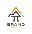 house building logo design vector image vector image