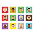 icon of faces on black background vector image vector image
