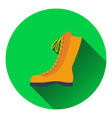 Icon of hiking boot vector image vector image