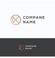 k company name logo vector image