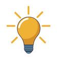 light bulb cartoon vector image