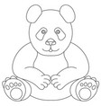 line drawing panda bear symbol logo panda vector image