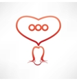 loves to chat icon vector image