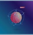 lowpoly geometric shape vector image vector image
