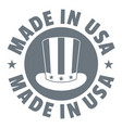 made in usa top hat logo simple style vector image vector image