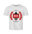 modern craft beer drink logo sign for vector image vector image