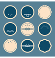 Nautical elements Blank badges and labels vector image vector image