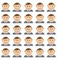 office smileys set vector image vector image