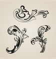 ornamental elements vector image vector image