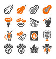 papaya icon vector image vector image